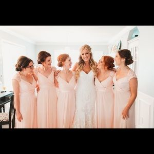 David's Bridal Dresses - Petal Pink Bridesmaids Dress